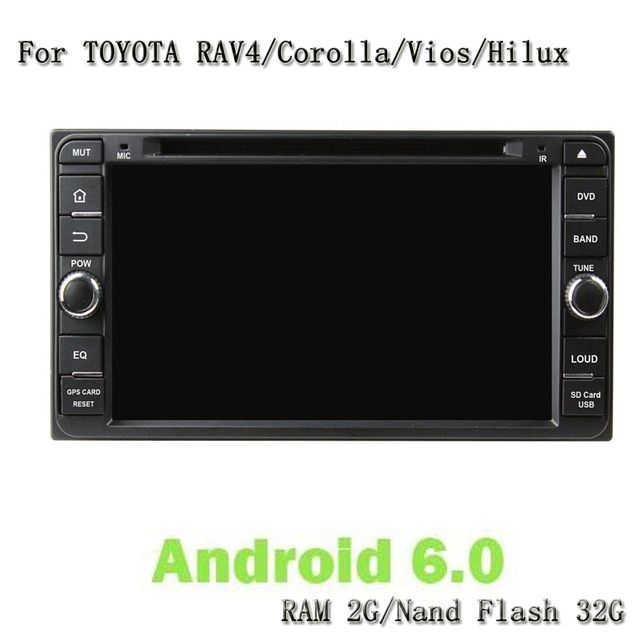 Android 6.0 Gps Navi Player Car Headunit Car Video For Toyota Rav4 Corolla Vios Hilux Land Cruiser Fortuner Prado Terios