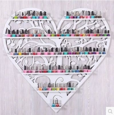 Novelty  Cosmetic display rack hanging nail polish shelf -32