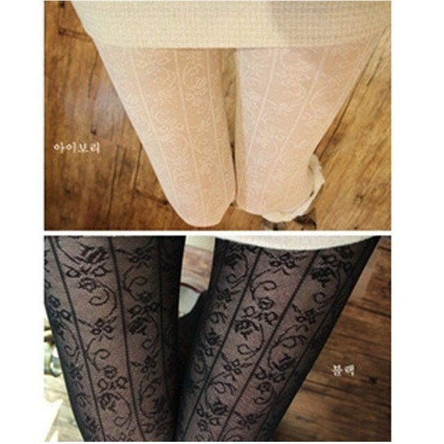 W729 Fashion Women's Sexy Pattern Jacquard Pantyhose Tights Stockings Wholesale 4 colors Free Ship