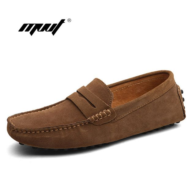 Fashion Summer Style Soft Moccasins Men Loafers High Quality Brand Genuine Leather Shoes Men's Flats Gommino Driving Shoes