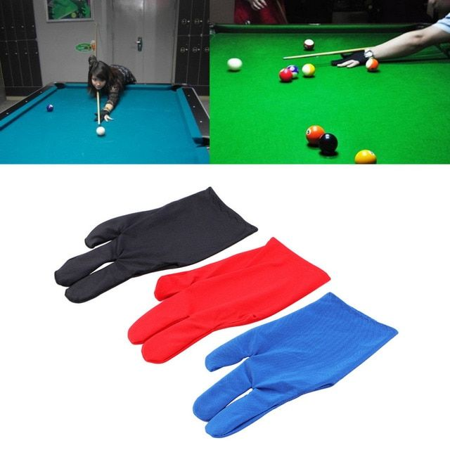 YHX YHX 2016 NEW arrival  Durable Nylon 3 Fingers Glove for Billiard Pool Snooker Cue Shooter Black