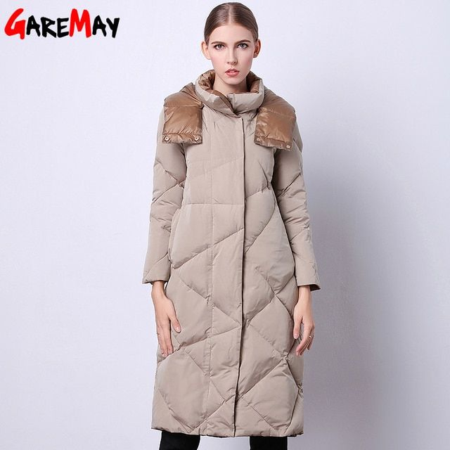 Women's Winter Jacket 2017 Fashionable Clothing Sale Long Quilted Parka Duck Down Feathers Korean Style Warm For Ladies