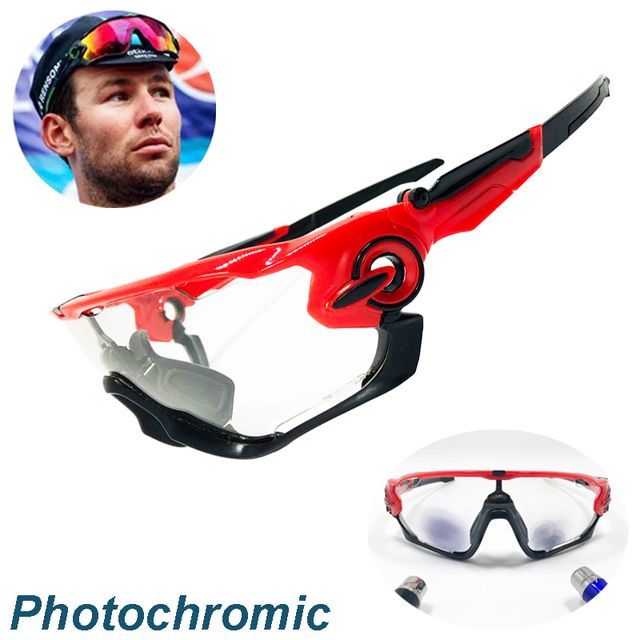 4 Lens Men Women Outdoor Sports Cycling Glasses Photochromic Polarized Men Cycling Eyewear Sunglasses with Myopia Frame