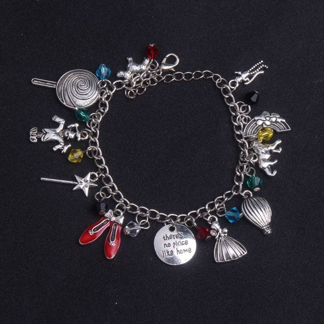 2017 New Fashion Jewelry Wizard of Oz Inspired Charm Bracelet for Women Jewelry