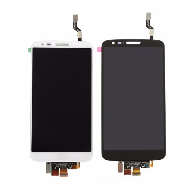 For LG Optimus G2 D802 D805 Black / white Touch Screen Digitizer Panel Sensor + LCD Display Monitor Screen Assembly 100% Test