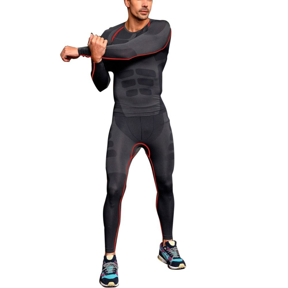 Mens Pant Compression Base Layer Long Fitness Tight Pants