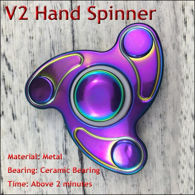 10Pcs/lot Adult Decompressive Toy Hand Spinner Professional EDC Ceramic Bearing Torqbar Brass Fidget Spinner For Autism and ADHD