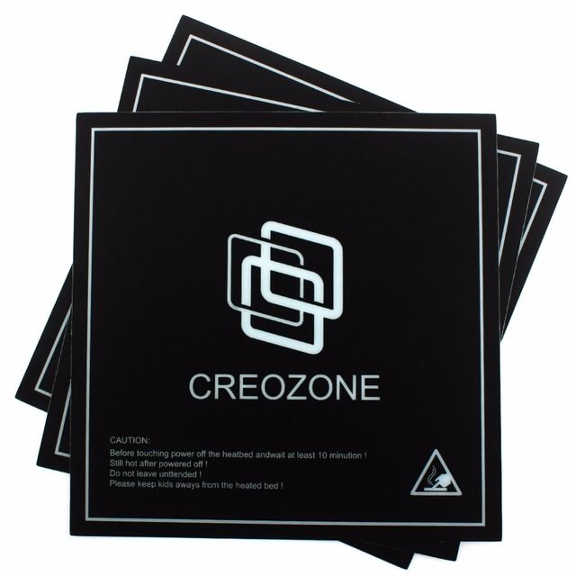 "CREOZONE 3D Printer Bed Build Surface 3D Printer Heated Bed Plate Bed Sheet 8.42"" x 8.42"" (214mm*214mm) Square 3Pcs/Lot"