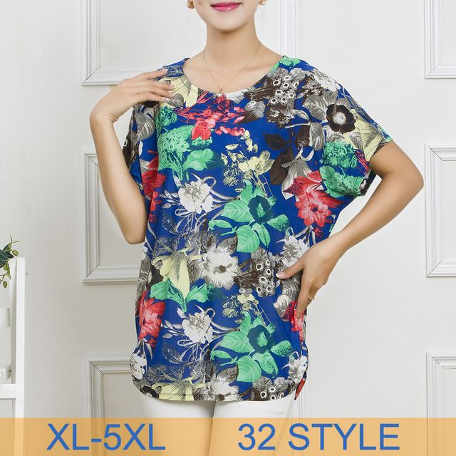 Women Loose Tops Tees 2016 New Summer Casual Fashion Print Short Sleeve Plus size T-Shirt Hot Selling Free Shipping