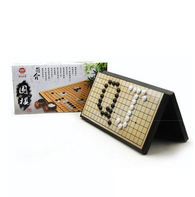 High Quality Chess Game Go Game The Game Of Go Magnetic Folding Chessboard One Set Children Entertainment Toy WeiQi
