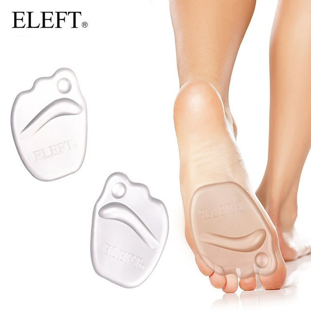 ELEFT Gel heel protector forefoot Pad Feet Silicone  insoles inserts insoles for shoes slip pads insert for high heels women