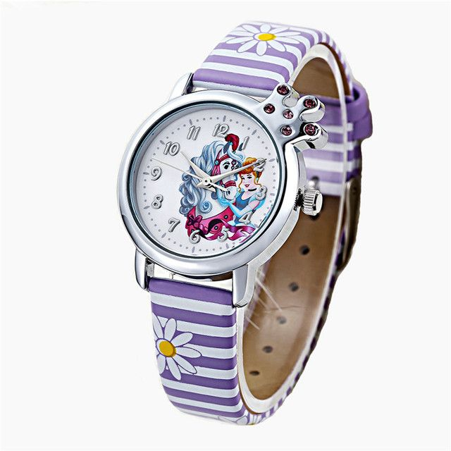 2016 kezzi children snow white cartoon watch brand watches casual quartz watches color-striated watches for kid hot sale k-1184