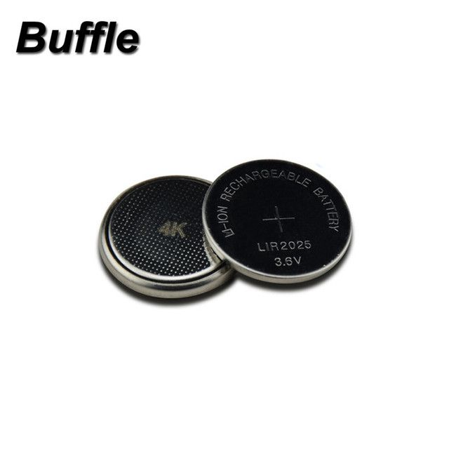 2x Buffle LIR2025 Rechargeable Battery for BMW Car Key Li-ion Battery Button/Coin Cell 3.6V 30mAh Repleace CR2025