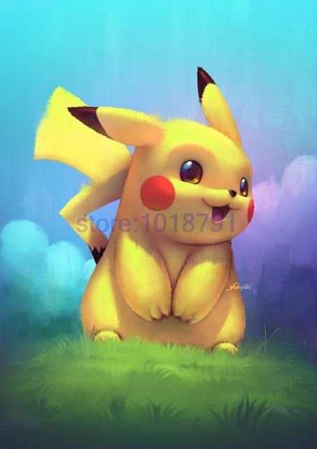 Rhinestone painting pokemon crystal Home Decor DIY Diamond painting Cartoon Picachu 3D cross stitch pattern diamond embroidery