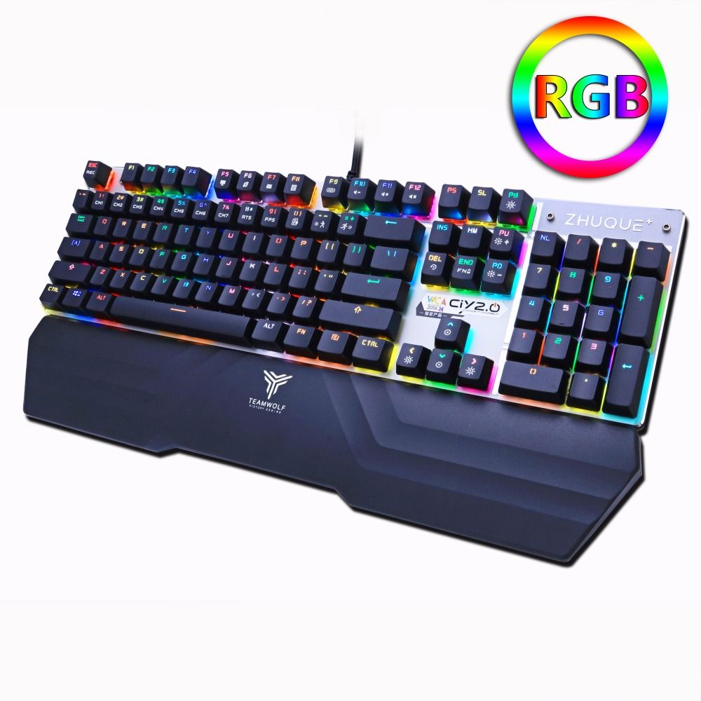 Mechanical gaming keyboard Optical connection switch RGB Backlit Anti-ghosting waterproof USB wired Pro gamer Russian stickers