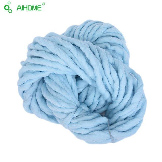 20 Colors Soft Wool Roving Bulky Thick Big Yarn Spinning Hand Knitting Thread Crochet Yarn For Hat Scarf Knitting