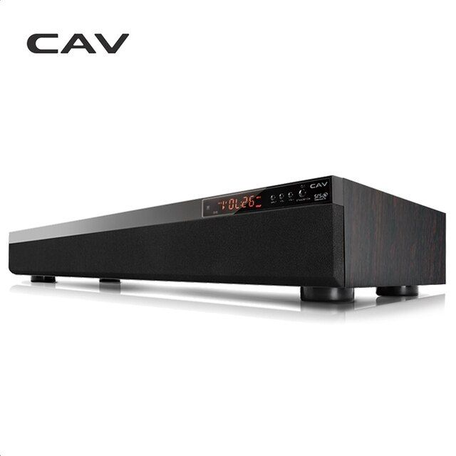 CAV TM900 Bluetooth Soundbar 3.1CH DTS Surround Wooden Wireless Home Theater 3D Stereo Column Sound Bar Music For TV Coaxial AUX