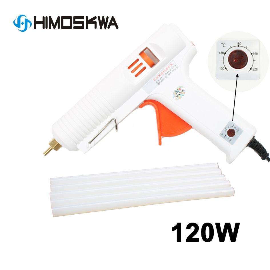 Hot glue gun 120W adjustable constant temperature hot melt glue gun copper nozzle hot glue gun