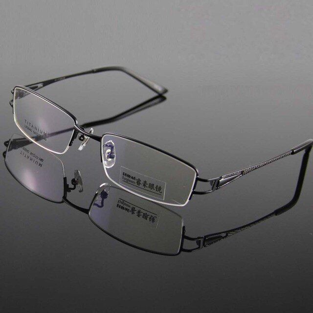 Unisex 100% Titanium Eyeglasses Frame Glasses Men Frame Half Rimless Spectacles Eyeglasses Frames Women Prescription Glasses