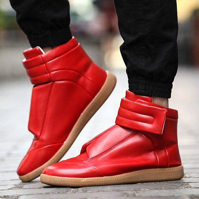 Ankle Boots For Men 2016 Winter High Top Casual Shoes Fashion PU Leather Boots Round Toe Solid Botas Hombre Dr Martins Timber