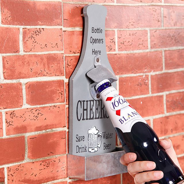 Creative Open Beer Bottle Opener Wall Act Role Ofing American Retro Bar Hanging Nostalgic Kitchen Soft Accessories