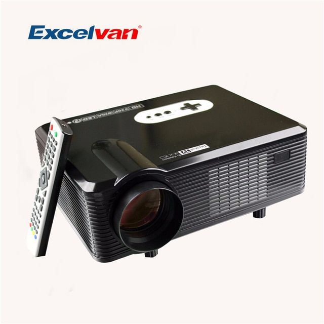 Excelvan CL720D 1280*800 3000 Lumens support 1080p LED HD Projector with HDMI/VGA/USB/AV/DTV Home Theater Projector/Proyector