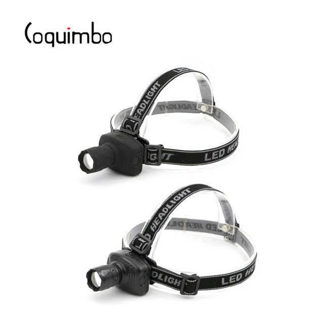 Coquimbo 600 Lumens 3-Modes Headlamp LED Light Lanterna for Outdoor Camping Hunting Fishing Power By 3 * AAA Batteries