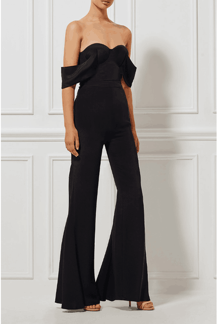 New Arrivals 2016 Off The Shoulder Jumpsuit Elegant Loose Pants Jumpsuit For Women Wholesale Dropshipping HL