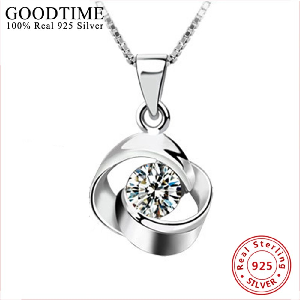 Necklace 2019 Genuine 925 Sterling Silver Necklaces Women Real 925 Silver Fashion Jewelry Female Cute Flower Pendant Necklaces