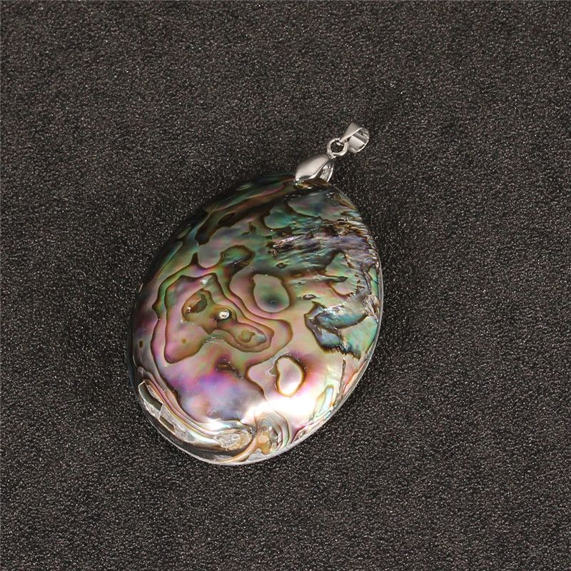 1pc Only 60x39mm New Zealand Natural Abalone Shell Pendant Charms Flatback Beads for DIY Necklaces Jewelry Findings Making