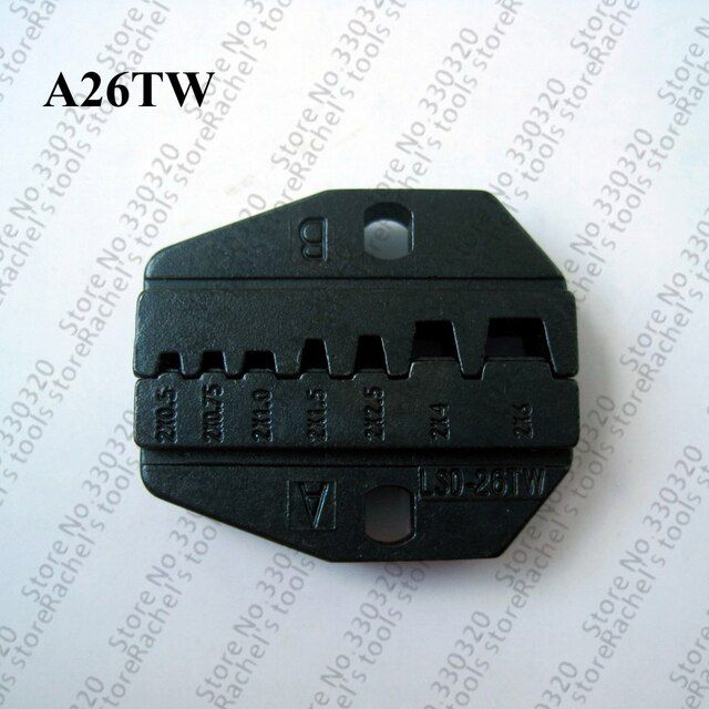 A26TW crimping die sets for twin cable sleeves