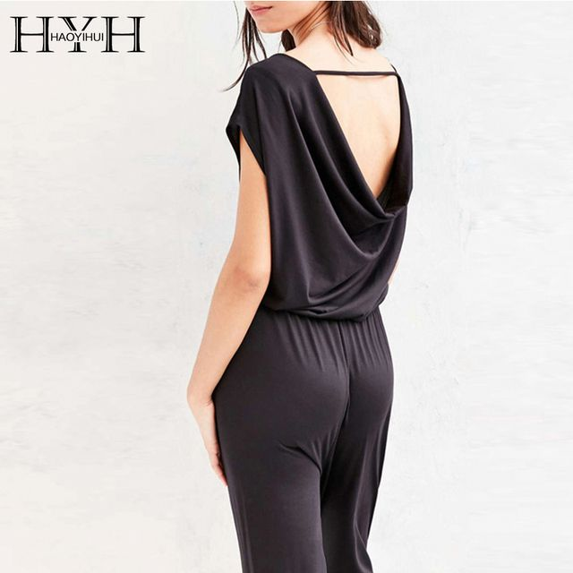 HYH HAOYIHUI 2017 Brand New Summer Women Fashion Bodysuit Sexy Backless Romper Elegant Casual Jumpsuit