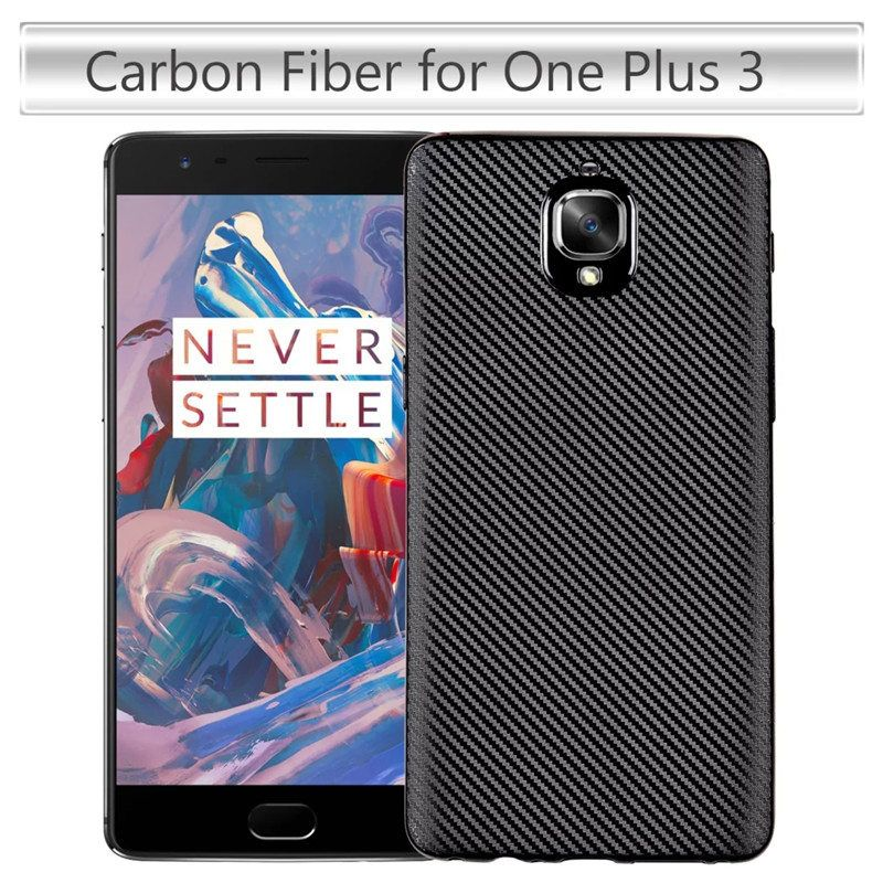 MAKAVO For Oneplus 3 Case One Plus 3 Cover Carbon Fiber Skin Back Cover Slim Soft Fundas For Oneplus3 Oneplus 3T Phone Cases