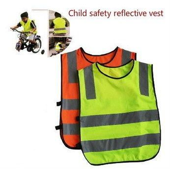 100pc Reflective Vest Knitting Polyester Fabric Kids Reflective Safety Vest Children High Visibility Security For Direct Selling