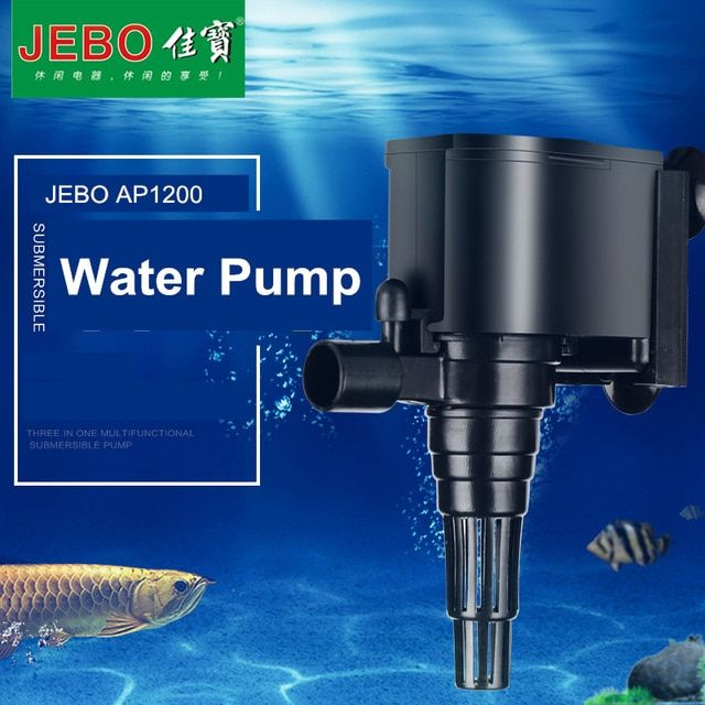 JEBO LIFETECH Super Water Pump for aquarium 8W Aquarium Pump For Fish Tank Water Circulating Pump to Build Waterscape AP1200