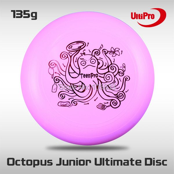 Free Shipping 135g Professional Junior UltiPro Ultimate Frisbee Pink Octopus
