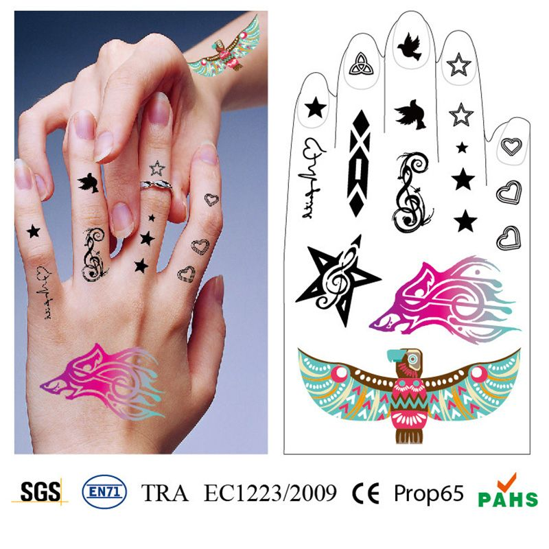 New Fashion Temporary Body Stickers Tattoos  or Body Temporary Tatoo  Waterproof DIY Body  Art  Stickers