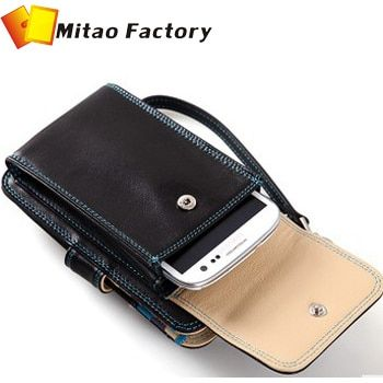 "2018 New Men Birthday Gift Leather Bag For Men With Mobile For iPhone 8 (4.7"") Purse Card Holder Pocket Wallets"