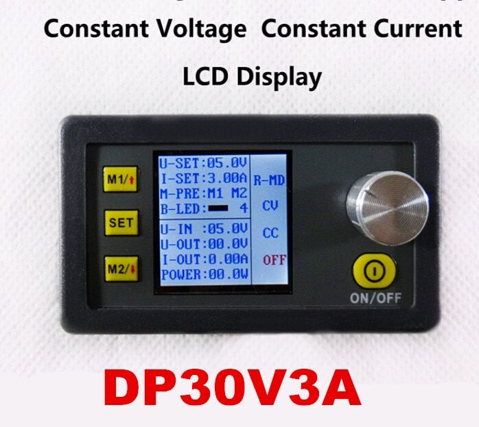 10pcs/lot car Voltage and 0-3.00A Current Step-down programmable control power supply Module DP30V3A with fan