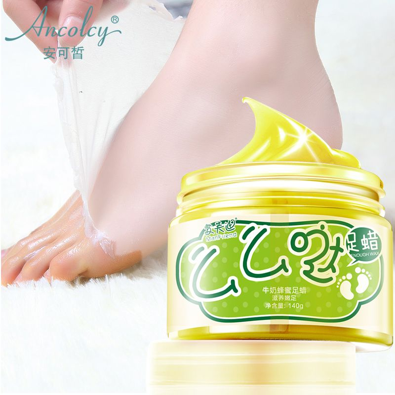 Ancolcy Paraffin Bath Feet Skin Care 150g Whitening Corneum Remove Milk Honey Women Men Foot Care Products Repair Moisturize