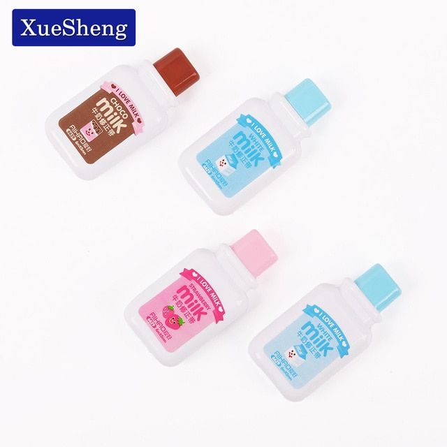 2 PCS Cute Milky Correction Tape Material Escolar Kawaii Stationery Office School Supplies