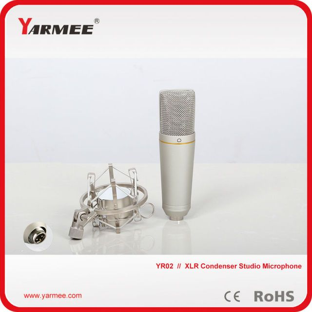 Microphone Professional Studio Microphone YR02 Wired Microphone Sound Recording Condenser Karaoke Mic Stand Holder