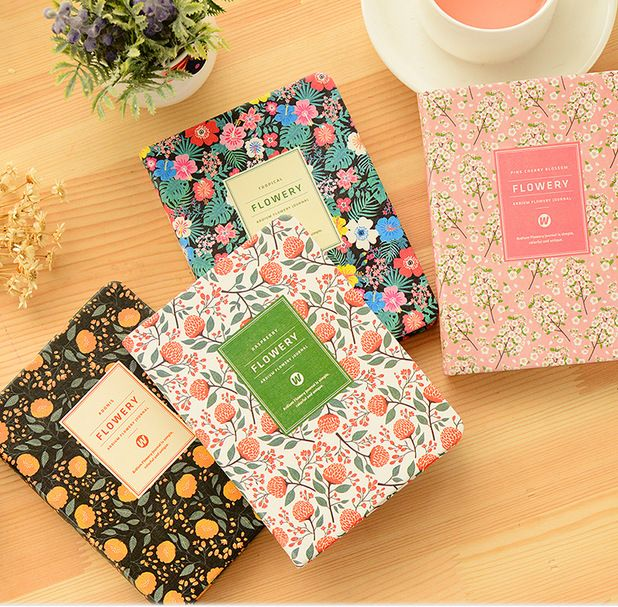 4PCS 2017 New Arrival Daily  Notebook School Supplies Cute Korean Stationery Notebook A5 Planner To Do List 11*15cm