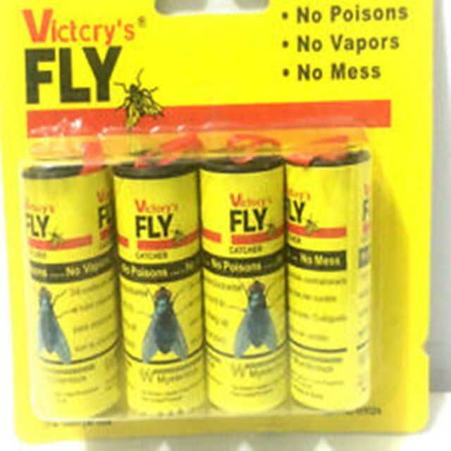 High Quality 4X Fly Sticky Paper Strip Mosquitos Killer Catcher Flying Insect Control Toxic Flying Insect Catcher