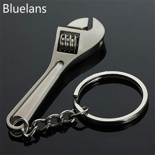 Fashion Mini Tool Wrench Spanner Key Chains Ring Metal Keychain Trinket Chaveiro Jewelry for Women Men Christmas Gifts Bluelans