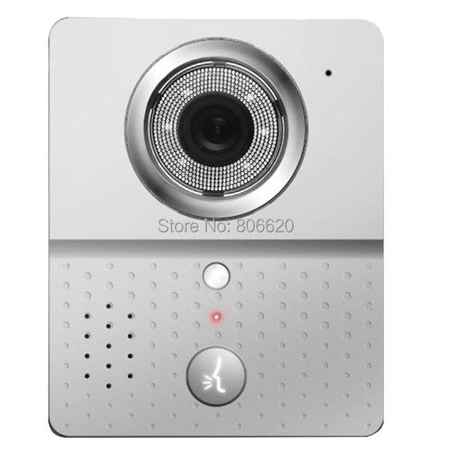 WIFI Visual Intercom Doorbell Via Smart  Mobile Phone Control with IP Door Phone & Wireless Door Peephole Viewer & Drop Shipping