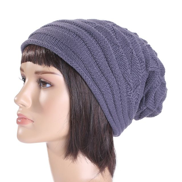 7 Colors Knitted Beanies Hats for Women Girls Casual Winter Caps Striped Pattern Solid Bonnet Female Hat Gorros Feminino LZ079