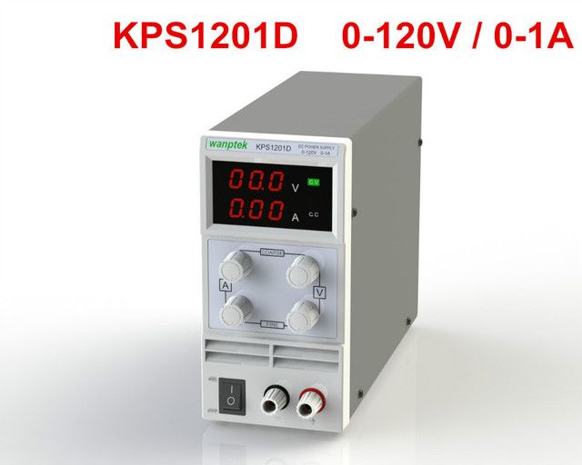Newest mini switching DC power supply KPS1201D 120V 1A adjustable DC regulated power supply Digital 0.1V 0.01A