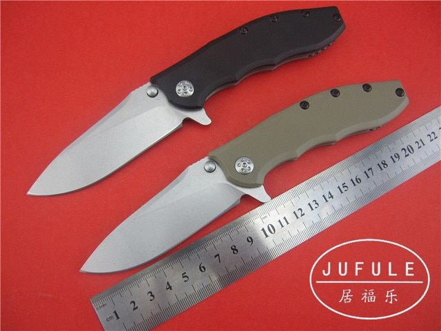 JUFULE YIDU ZT0562 Folding Blade Knife 9Cr18Mov Blade Steel G10 Handle Utility Outdoor kitchen Hunting Knives Camping  Tool OEM