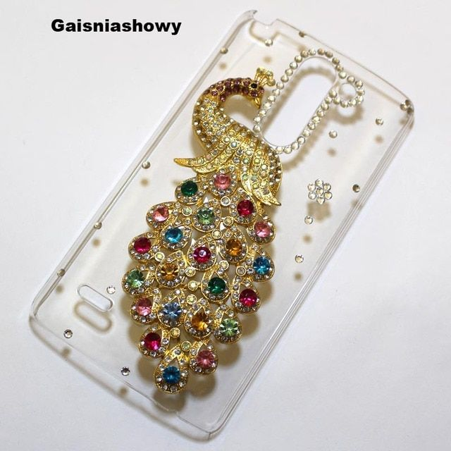 For LG G3 Stylus D690 Case Cover, Handmade 3D Cute Bling Peacock Phone Case Cover For LG G3 Stylus D690